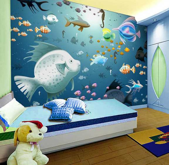 Murales cameretta bimbi decorazioni camerette per bambini for Carta da parati bambini ikea