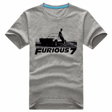 Buy Summer Fast Furious 7 Movie Paul Walker Souvenir T Shirt Collection Customized Short sleeve T-shirts Men S-XXL for $15.93 in AliExpress store