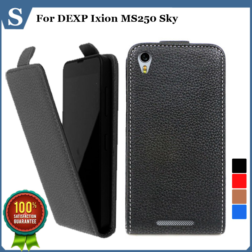 Factory price , Top quality new style flip PU leather case open up and down for DEXP Ixion MS250 Sky, gift(China (Mainland))