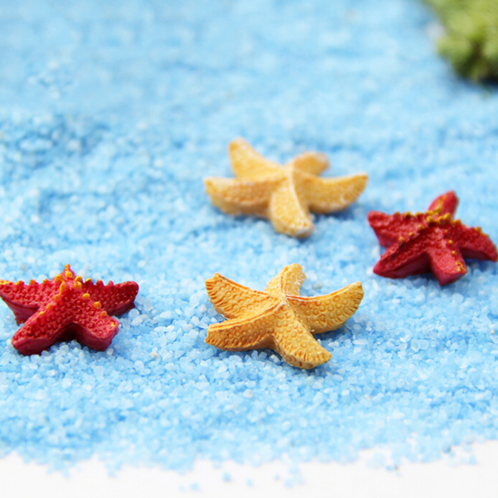 Micro Landscapes DIY Resin Crafts Bonsai Figurine Garden Terrarium Accessories 10pcs Starfish Miniatures Fairy Garden Decoration(China (Mainland))
