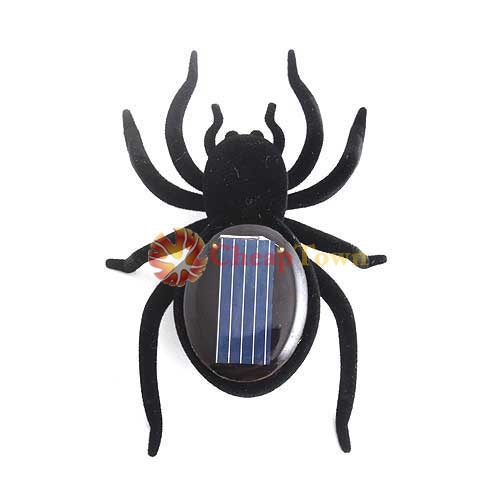 CheapTown Shop Educational Solar Powered Black Spider Toy Gadget Kids(China (Mainland))