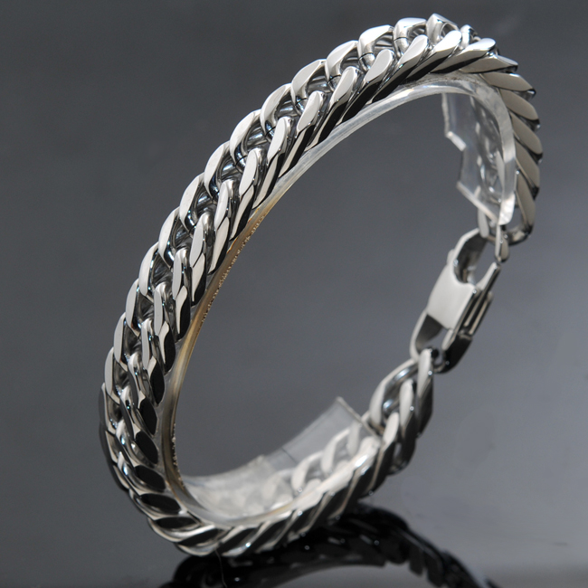 Free Shipping, 8.6 long, 10mm wide, Stainless Steel Bracelet, Mens Chains Bracelets, for Punk, Rock, Accessories, Wholesale<br><br>Aliexpress
