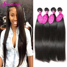 7A Brazilian Virgin Hair Straight Human Hair Weave 4 Bundles Straight Virgin Hair Rosa Hair Products Brazilian Straight Bundles(China (Mainland))