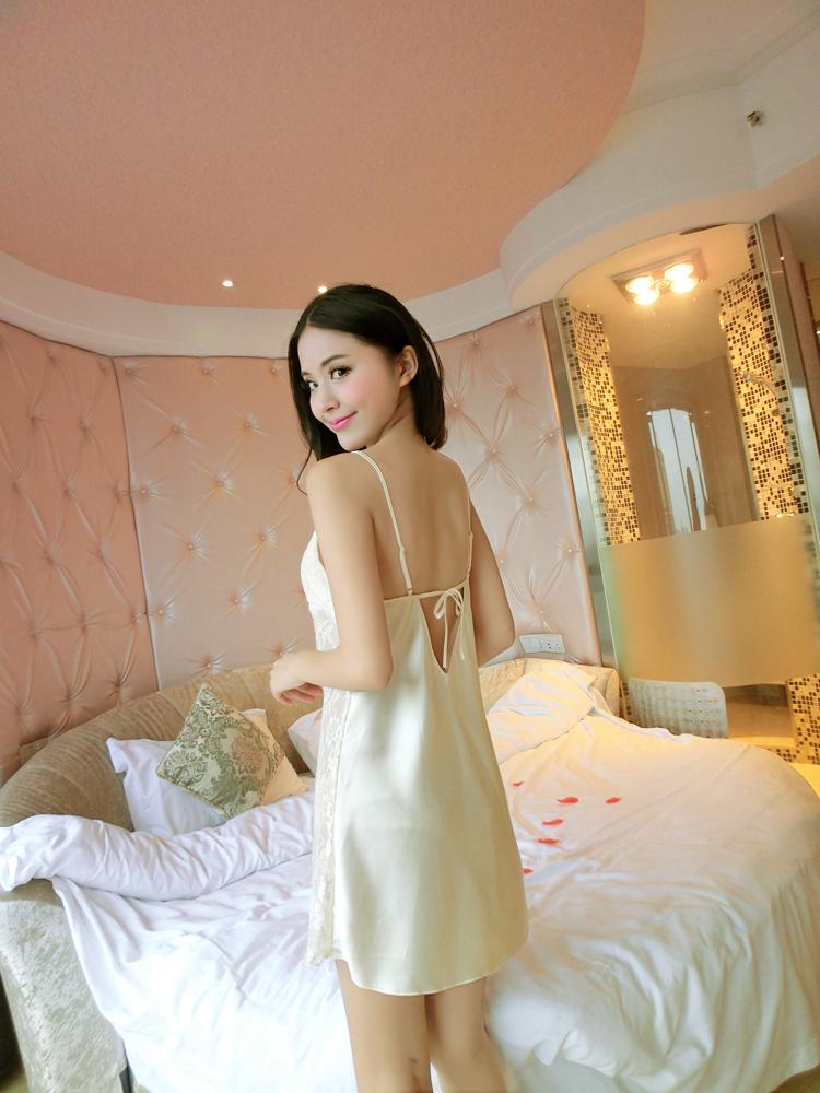summer style pajamas long satin nightgowns women lady's sleeveless sexy nightdress nightwear pijama feminino sleep shirt(China (Mainland))