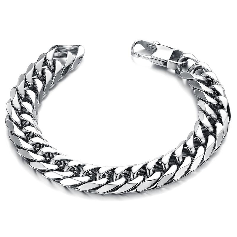 New Fashion jewelry titanium steel cool men's personality charm bracelet & bangle punk style for male / man gift(China (Mainland))