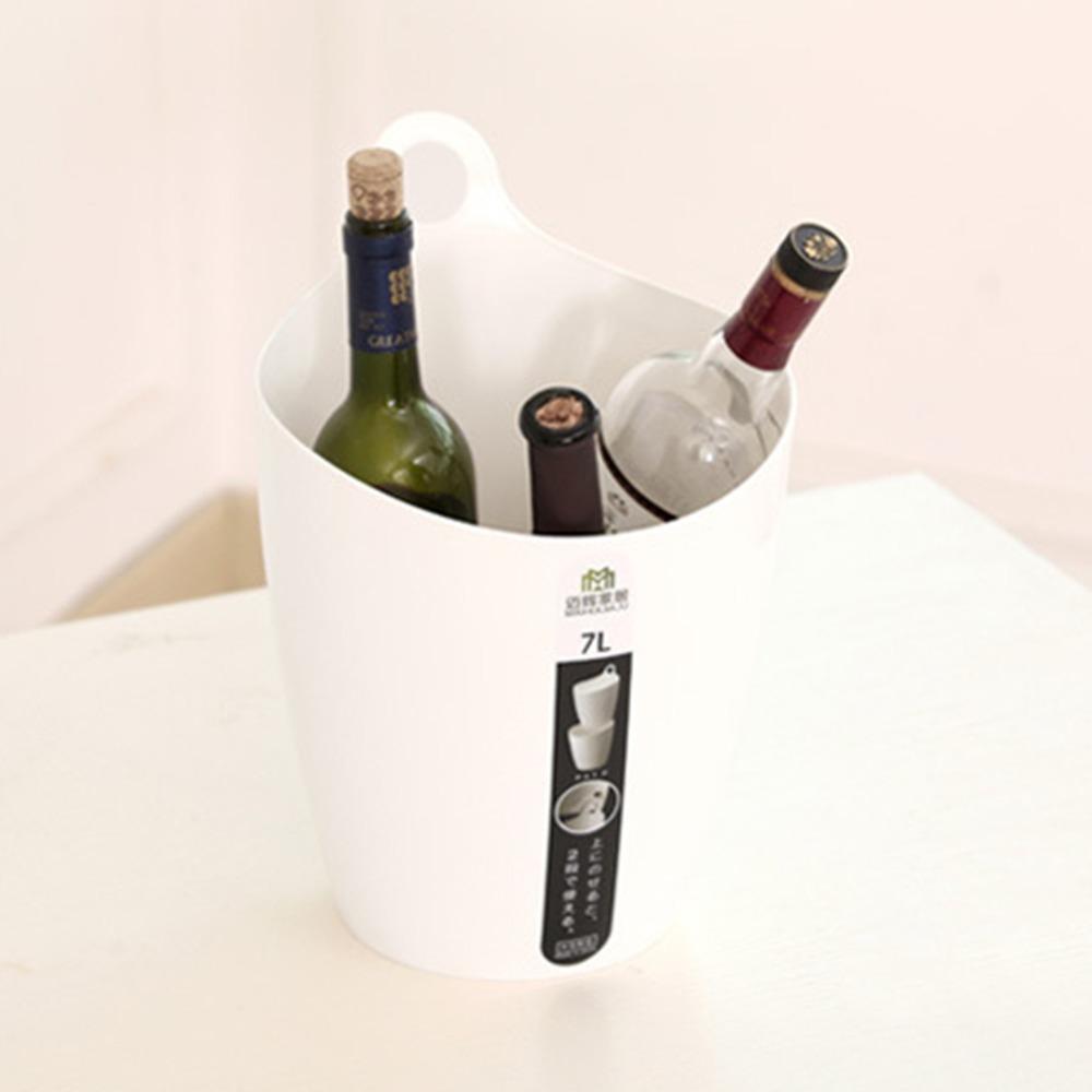 Storage Bin Creative Living 7L Multifunction Stackable Waste Bin Storage Bucket for Wine Beer Bottle Beverage Organizer Bin(China (Mainland))