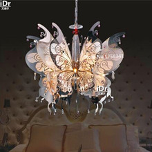 Butterfly stainless steel lamp K9 crystal lamp living room dining elegant fashion G4 Crystal Light Chandeliers Luxury lamp(China (Mainland))