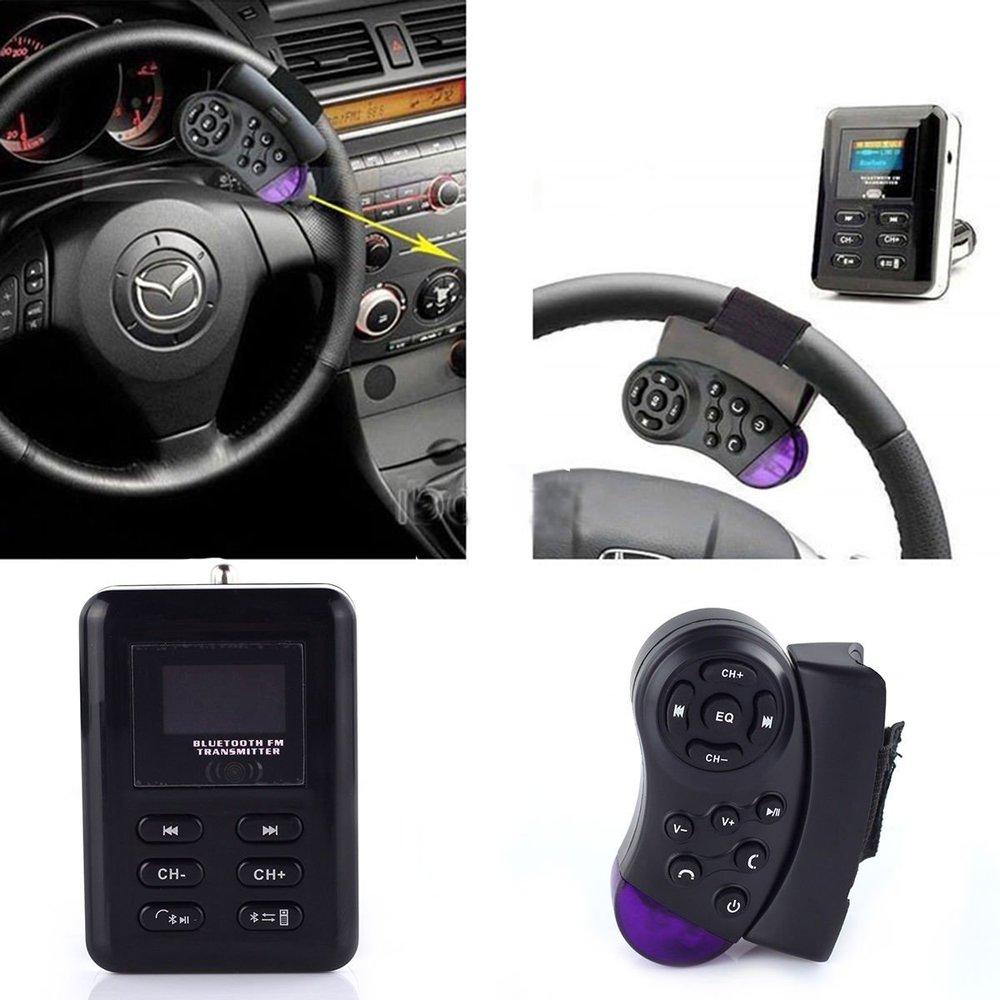 Wireless Bluetooth FM Transmitter modulator USB SD Car Charger Cigarette Lighter Car MP3 Player HandsFree+Steering Wheel Control(China (Mainland))