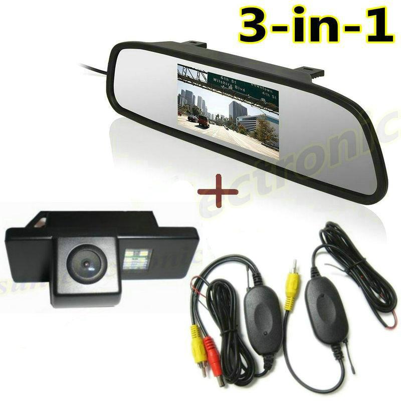 4.3'' LCD Monitor + Wireless Rear View Reverse Camera for Nissan QASHQAI X-TRAIL Citroen C4 C5 Peugeot 307cc Pathfinder Dualis(China (Mainland))