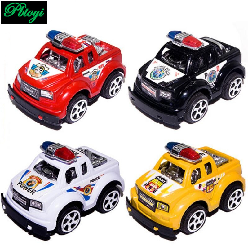 Children's plastic toys wholesale pull back car model hot police 20g PI0690(China (Mainland))
