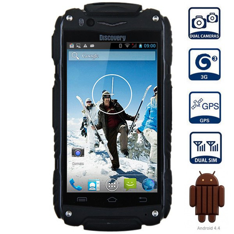 Discovery V8 4.0'' Android 4.4 3G Smartphone IPS MTK6572 Dual Core WiFi GPS Waterproof Shockproof 4GB ROM 5MP Mobile Cell Phone(China (Mainland))