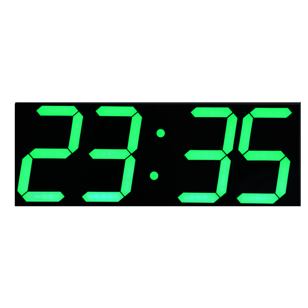 Green LED Digits Large LED Wall Clock with Calendar Temperature Display Remote Control Countdown Timer Stopwatch(China (Mainland))