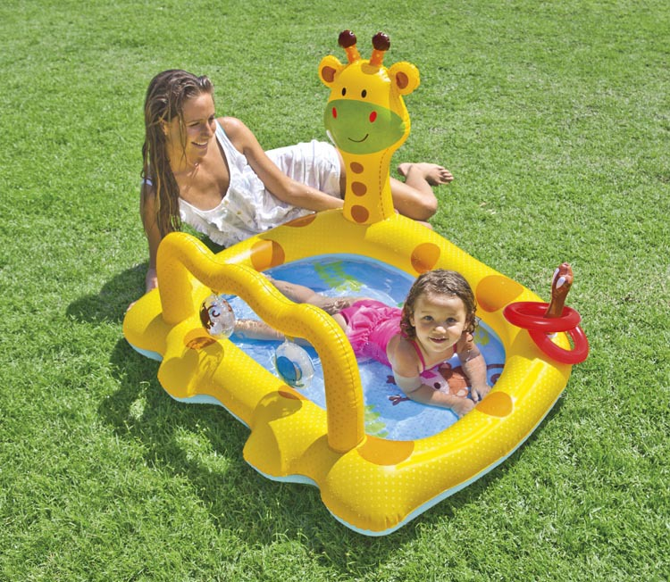 intex baby swimming inflatable pool kids zwembad children character plastic gonflable kids swimming pools yellow for infantil(China (Mainland))