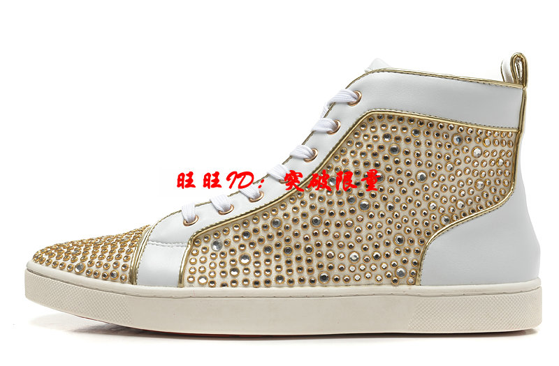 The original superstar high leisure shoes for men BLU  cl red bottom casual shoes couple crystal fashion colorful flat shoes<br><br>Aliexpress