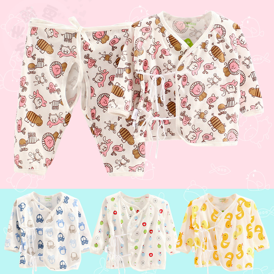 2015 Rushed Spring And Early Summer Thin Section Cotton Cartoon Cute Newborn Baby Clothes, Underwear Split Ha Monk 0-1 Years(China (Mainland))