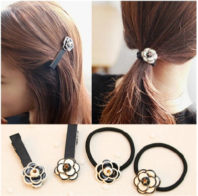 [6846]elastic band bracelet summer style hair accessoires women headband clips gum weave baffle braided bow bandana ornaments(China (Mainland))