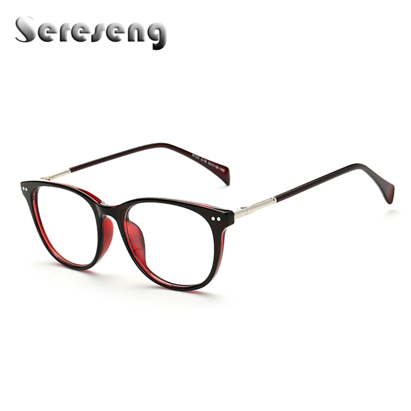 2017 retro clear lens frames glasses fashion brand designer men women optical eyeglasses vintage half metal