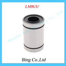 Free Shipping 10pcs/lot LM8UU 8mm 8x15x24mm Linear Ball Bearing Bush Bushing 8mmx15mmx24mm