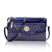 Free shipping The new female crocodile Handbag Satchel Fashion Shoulder Bag hand bag ladies leisure Square