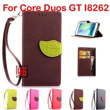 Buy Cheap Leaf Clasp PU Leather Flip Filp Wallet Phone Cell Case capa Cover Samsung Galaxy Core Duos GT I8262 GT-I8262 Brown for $8.23 in AliExpress store