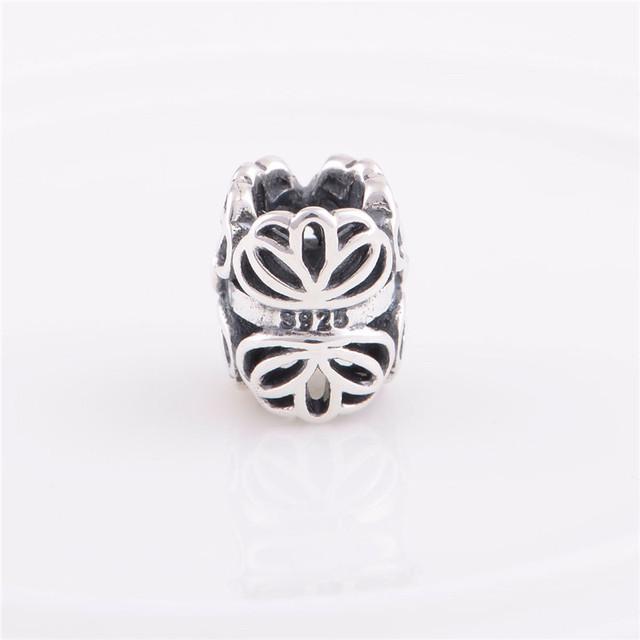 Аутентичные стерлингового серебра 925 бусины женщины цветочный дизайн очарование DIY ювелирных изделий подходит для Chamilia европейский шарм браслет