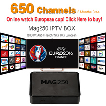 2016 IPTV Box MAG250 European IPTV Account 6 months Subscription Canal MAG250 French Arabic IPTV Box Free shipping