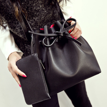 Free shipping Fashion 2015 candy color fashion all-match bucket bag one shoulder cross-body women's handbags