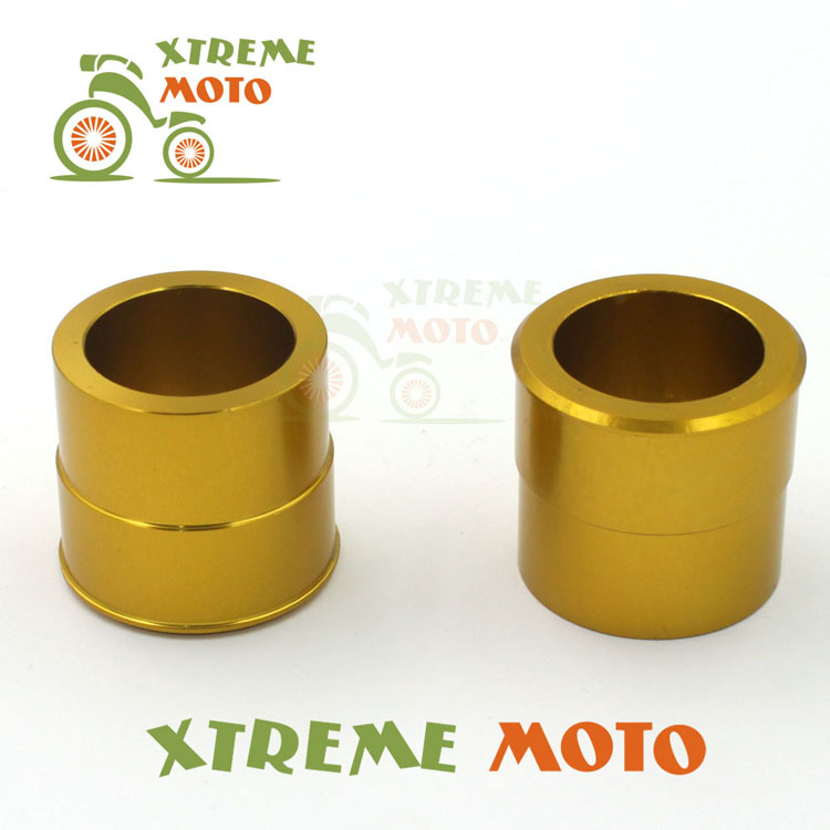 CNC Billet Aluminum Gold Front Wheel Hub Spacer Kit For Suzuki RMZ250 RMZ450 RMX450Z Dirt Pit Bike Motocross Motorcycle Racing(China (Mainland))
