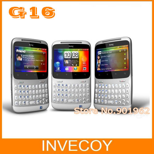 G16 A810e Original Unlocked HTC ChaCha A810e mobile phone Android wifi 3G 5MP Touch Screen GPS 2.6' QWERTY Keyboard freeship(China (Mainland))