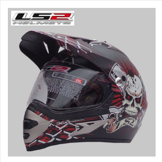 Free shipping newest LS2 MX433 Motocross off-road helmet cross-country helmet helmet full helmet winter helmet / Skynet smudge<br><br>Aliexpress