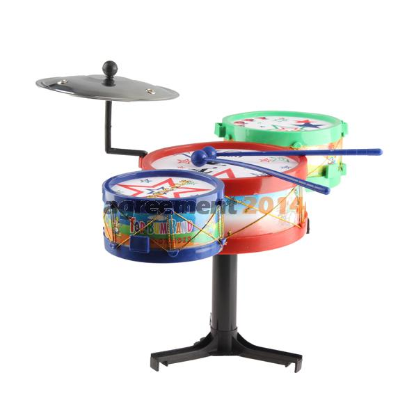 Children Musical Instruments Toy Kids Colorful Plastic Drum Drum Kit Set ARE4(China (Mainland))