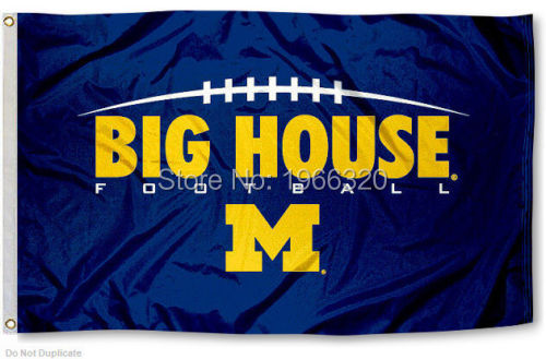 College University of Michigan Wolverines Flag UM Big House Banner Large Outdoor NCAA 3ft x 5ft 144* 96cm Custom flag(China (Mainland))