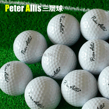 2014 New Arrival Top Fashion Freeshipping White Three Piece Golf Ball Box Golf Practice Match Ball On Three Floors(China (Mainland))