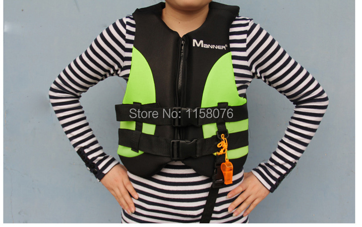 Youth lifejacket NEOPRENE Material Buoyancy clothing / rafting clothing / inflatable boat / dinghy / applicable(China (Mainland))