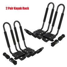 2 Pairs Kayak Carrier Boat Ski Surf Snowboard Roof Mount Car Cross J-Bar Rack(China (Mainland))