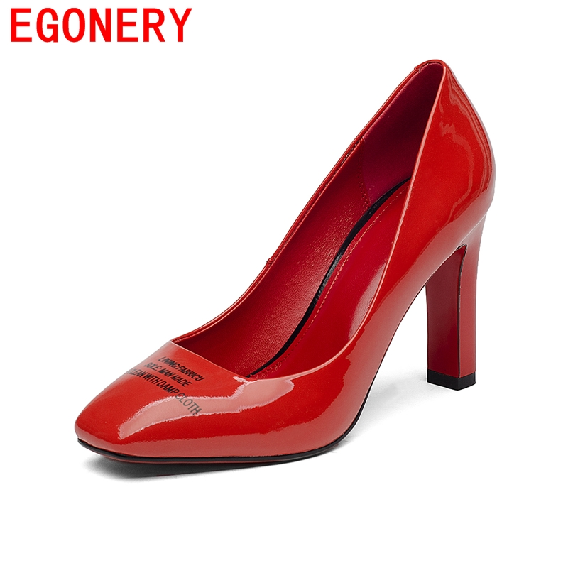 2016 high quality red black white shoes women pumps  thick heels high heels office lady sexy office lady pumps size 34-39<br><br>Aliexpress