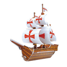 3D DIY simulation of ship warship manual paper model of children's birthday gift Teddy(China (Mainland))