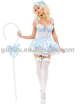 Wholesale Sexy Lingeries Sexy Little Bo Peep Adult Women's Fashion Cosplay Costume Size M/L Dropshipping O38287