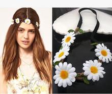 New Women Hair Accessories Wreath For Hair With Simulation Chrysanthemum Flowers Headbands Bohemia Hair Bands Girls Headband