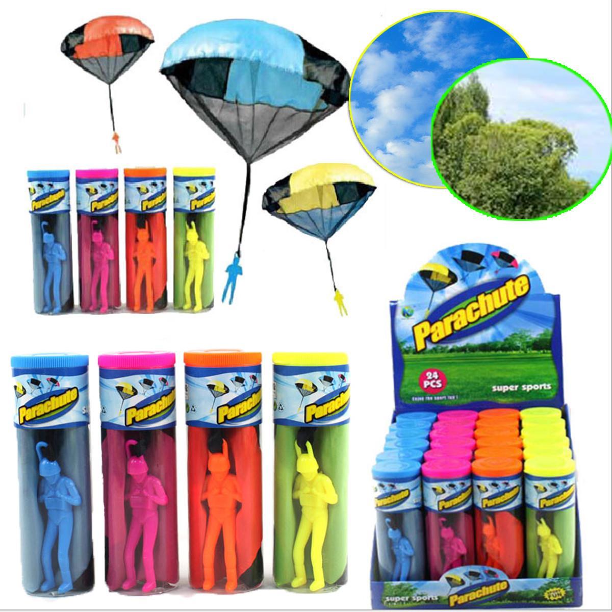 Hand Throwing parachutes Kite kids mini play parachute soldier toy Children's Educational Toys Kites free shipping(China (Mainland))