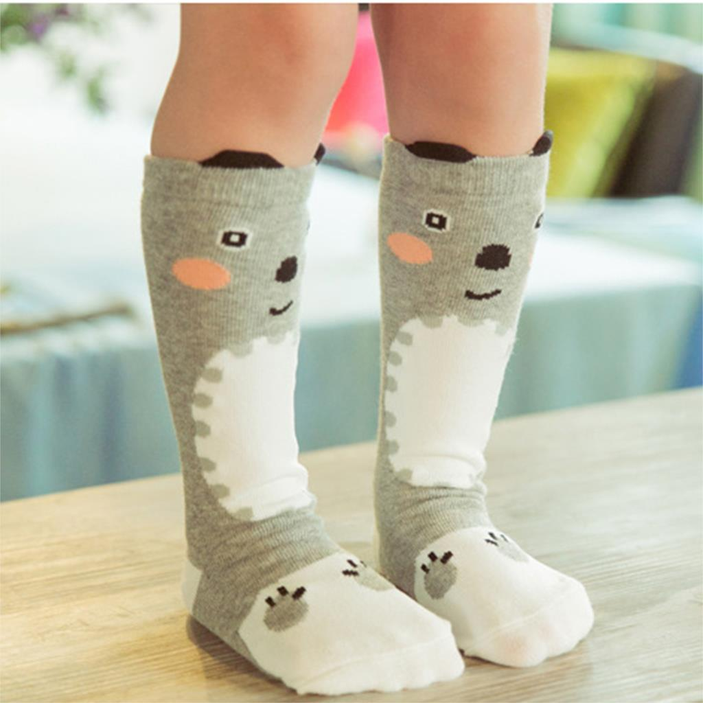 Cartoon Children Knee High Socks Baby Kids Girls Cotton Cute Pattern Knee Socks 2015 Clothing