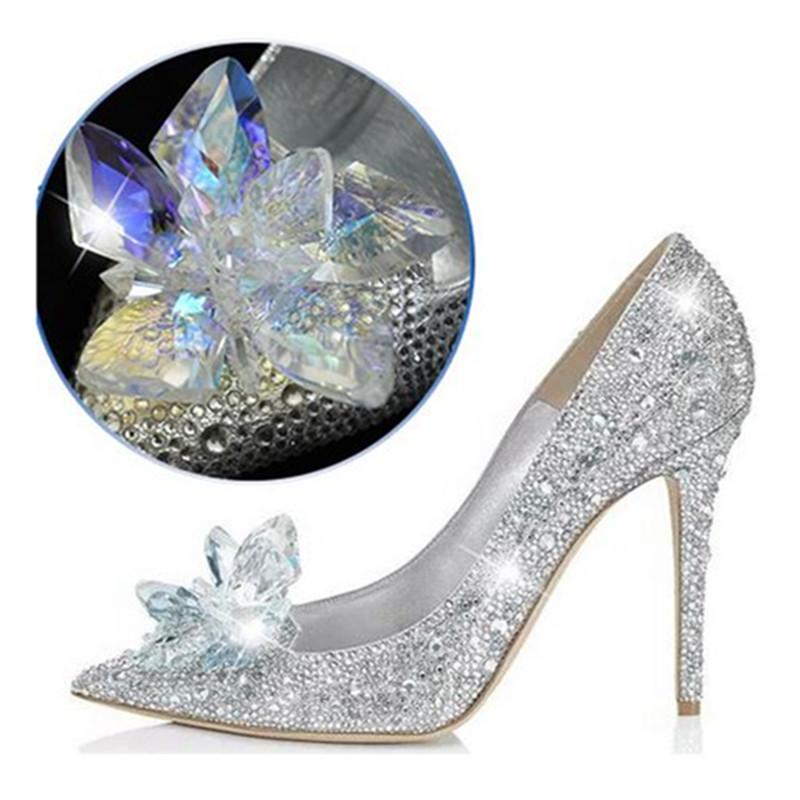hb wedding shoes brand cinderella glass slipper