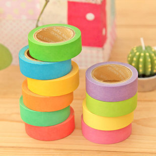 5 pcs/lot DIY Cute Candy Color Japanese Washi Tapes Paper Masking Stickers for Decoration Scrapbooking Korea Free shipping 920(China (Mainland))