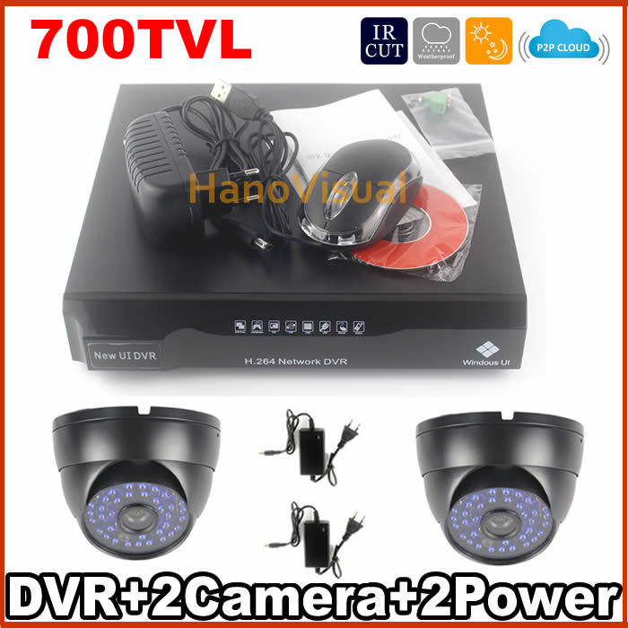 700TVL Dome CCTV Camera 48pcs IR Led Light CCTV System Waterproof Outdoor And Indoor Use 4CH DVR Kit Home Security Camera System<br><br>Aliexpress