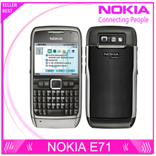 E71 100% Original Nokia E71 Mobile Phone 3G Wifi GPS 5MP Refurbished cellphone Unlocked E Series Smartphone Russian Keyboard(China (Mainland))