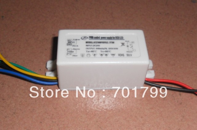 LED constant PWM current driver with plastic case,DC12-24V input,6*1W/320ma or 3*3W/640ma output;support PWM dimmering,3channels
