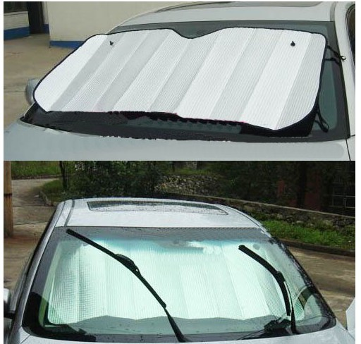 free shipping Windshield aluminum foil visor summer auto accessories sun visor extension car curtain Sun Shade reflector new(China (Mainland))