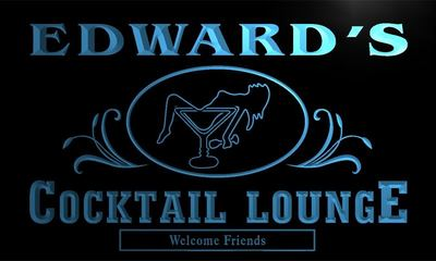 x0019-tm Edward's Cocktail Lounge Custom Personalized Name Neon Sign(China (Mainland))