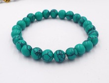 Buy Natural stone Black Onyx Bracelet 8MM semi precious stone round beads stretch bangle bracelet men girl women jewelry for $1.47 in AliExpress store