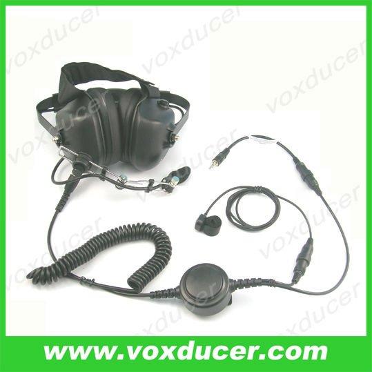 Detachable military headset for Motorola Visar series(China (Mainland))
